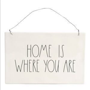 RAE DUNN Home Is Where You Are Wall Plaque
